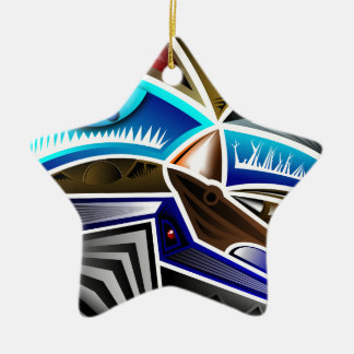 Cool Abstract Art Design Ceramic Ornament
