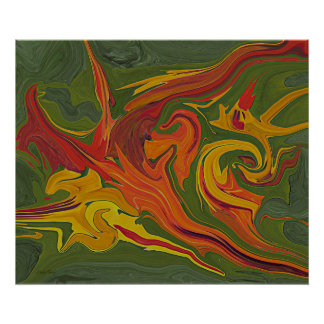 Cool Abstract Art Digital Painting Poster