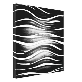 Cool Abstract Black and White Squiggles Canvas Print
