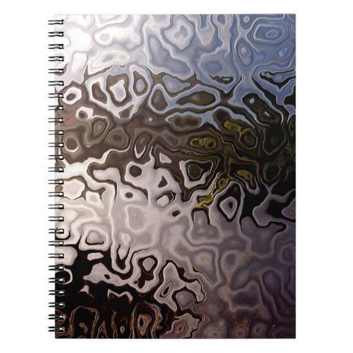 Cool Abstract Brown, Grey Spiral Notebook