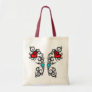 Cool Abstract Butterfly Design With Hearts Bag