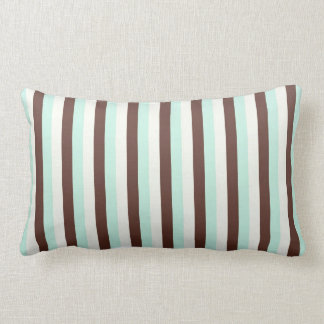 Cool   abstract chocolate  mint stripes   pillow