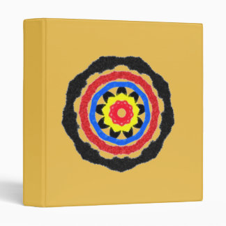 Cool abstract circle pattern 3 ring binders