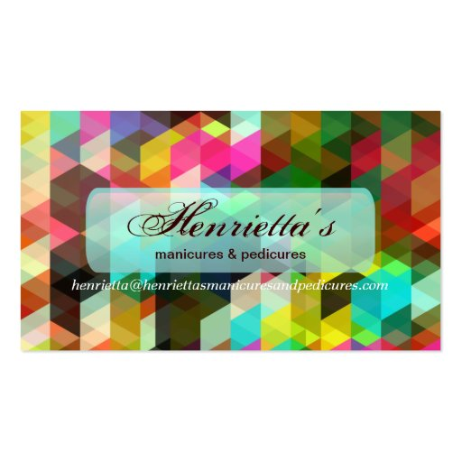 Cool Abstract Colorful Geometric Vector Pattern Business Card Template