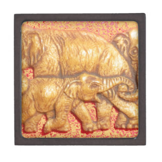 Cool Abstract Colorful Vector Elephant Family Gift Jewelry Box