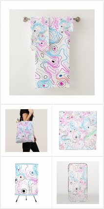 Cool abstract colorful woodgrain pattern