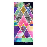 Cool abstract geometric triangles watercolor rack card