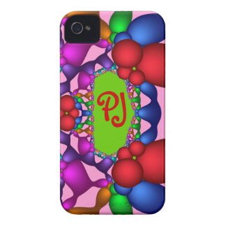 Cool abstract iPhone 4 case-mate case wth monogram