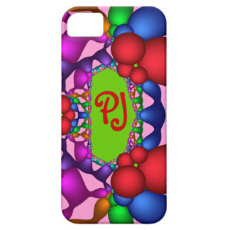Cool abstract iPhone 5 case-mate case wth monogram