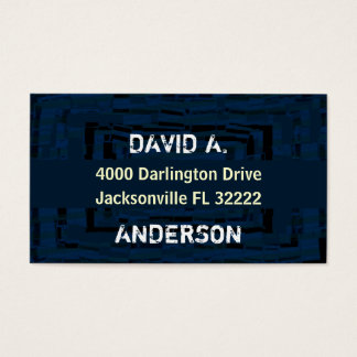 Cool abstract masculin blue business card