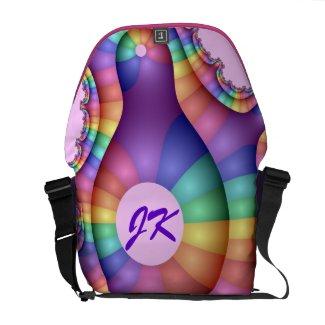 Cool abstract Messenger bag with Monogram rickshawmessengerbag