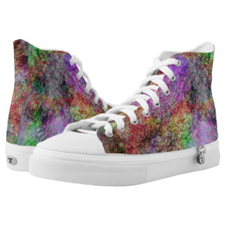 Cool Abstract Mixture of muted Water Colors Printed Shoes