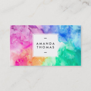 Modern Art Business Cards Zazzle