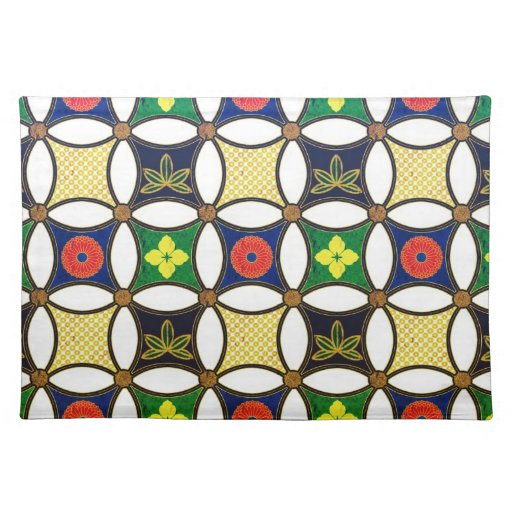 Cool  abstract  oriental japanese pattern placemat