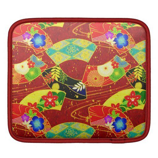 Cool  abstract  oriental japanese pattern  sleeve sleeves for iPads