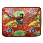 Cool  abstract  oriental japanese pattern   sleeve sleeve for MacBook pro