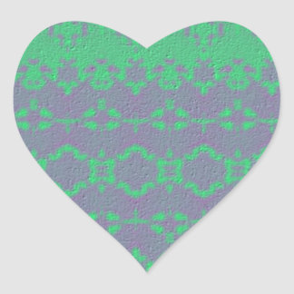 Cool abstract pattern heart sticker