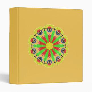 Cool abstract pattern vinyl binder