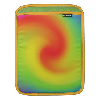 Cool Abstract Rainbow Wave Art Sleeves For iPads