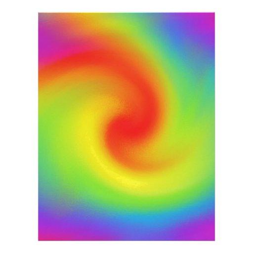 Cool Abstract Rainbow Wave Art Letterhead