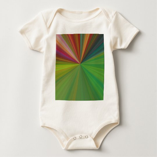 Cool Abstract Rays Baby Bodysuit