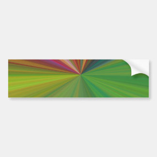 Cool Abstract Rays Bumper Sticker