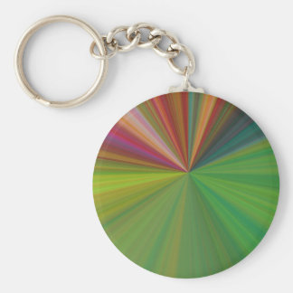 Cool Abstract Rays Basic Round Button Keychain