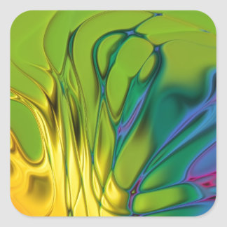 Cool Abstract Tie Dye Square Sticker