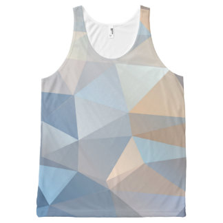 Cool Abstract Triangle Pattern All-Over Print Tank Top