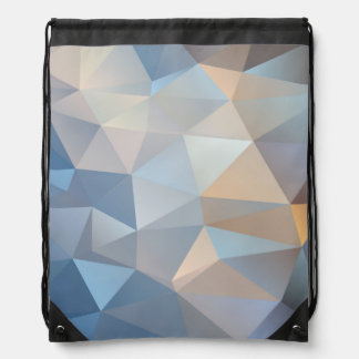 Cool Abstract Triangle Pattern Drawstring Backpack
