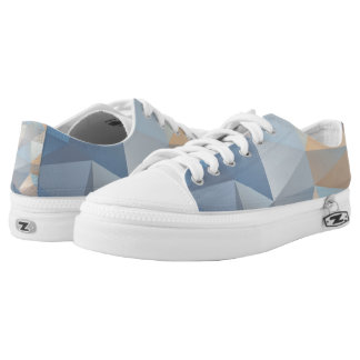 Cool Abstract Triangle Pattern Printed Shoes