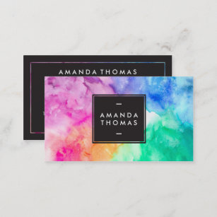 Makeup artist business cards zazzle cool abstract watercolor chic modern makeup artist business card colourmoves