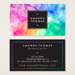 Cool Abstract Watercolor Chic Modern Makeup Artist Business Card at Zazzle