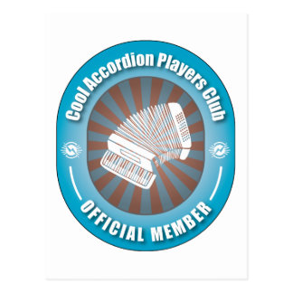 Cool Accordion Players Club Post Card
