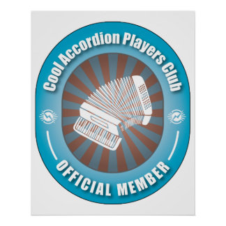 Cool Accordion Players Club Posters