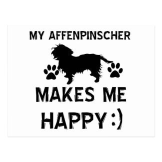 Cool Affenpinscher dog breed designs Postcard