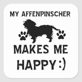 Cool Affenpinscher dog breed designs Square Sticker