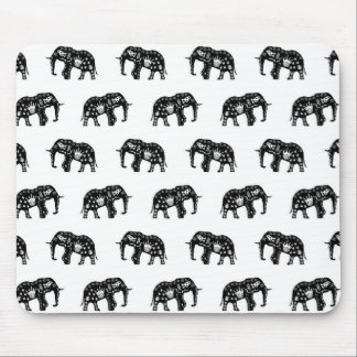 Cool Africa Pattern Elephant Picture Mousepads