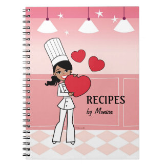 Cool African American Girl Culinary Notebook