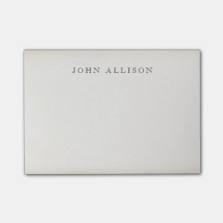 Cool Aged Vintage Guy's Black Calling Card Post-it Notes