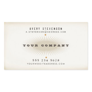 Cool Aged Vintage Style Elegant Typography Hip Double-Sided Standard Business Cards (Pack Of 100)