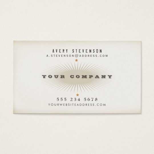 Cool Aged Vintage Style Typography Business Card