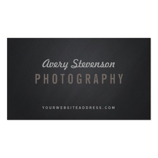 Cool Aged Vintage Typography Hip Photographer Business Card Template