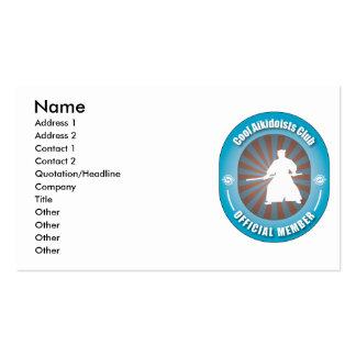 Cool Aikidoists Club Business Card Templates