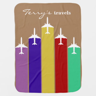 Cool Airplane Jetstream Flight Trails Swaddle Blanket