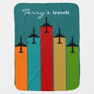 Cool Airplane Jetstream Flight Trails Baby Blankets