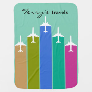 Cool Airplane Jetstream Flight Trails Receiving Blanket