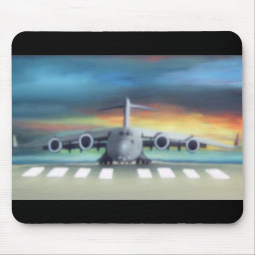 cool airplane mouse pad