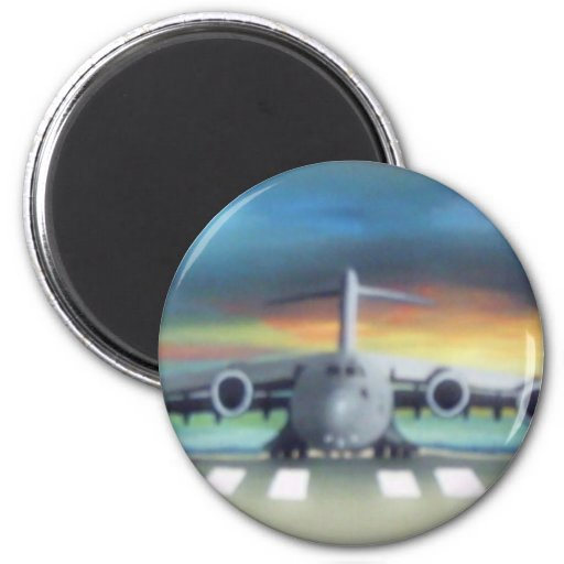 cool airplane refrigerator magnet
