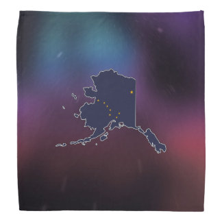Cool Alaska Flag Map Bandana